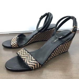 Ann Taylor Woven Chevron Wedge Sandals